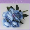 Blue Real Touch Wedding Decoration Peony 18293