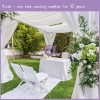 Ivory Decorative Voile Wedding Backdrop Draping Ceiling Covering