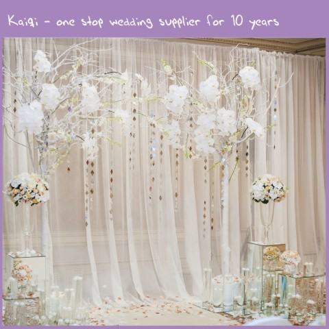 Ivory Wedding Voile Backdrop Wall Covering Draping Kaiqi