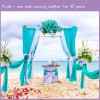 Turquoise 10ft Voile Panel Cheap Wedding Backdrop Sale