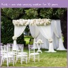 Voile Sheer Wedding Curtain Drape Panel With Pockets