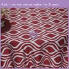 Groovy printed lamour satin tablecloth MY0017G