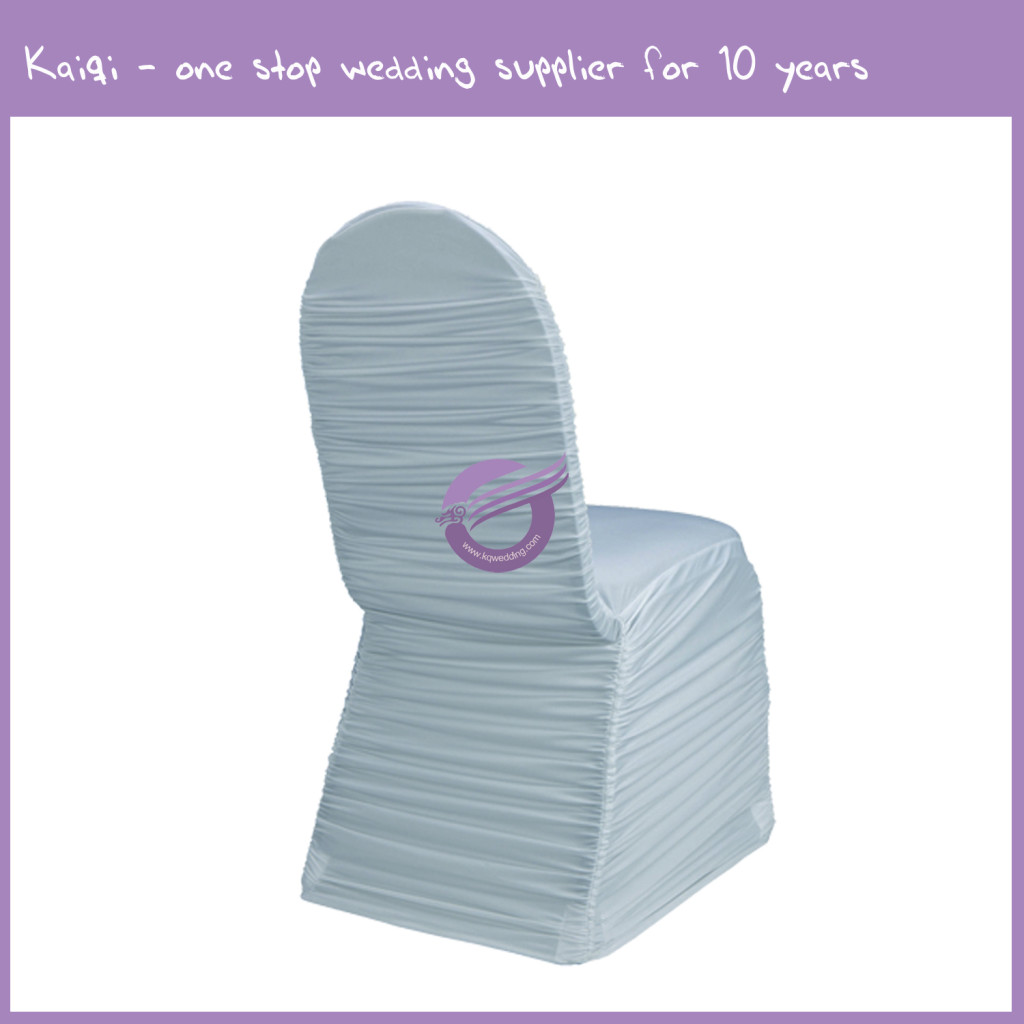 Light Blue Roughed Spandex Chair Cover 951