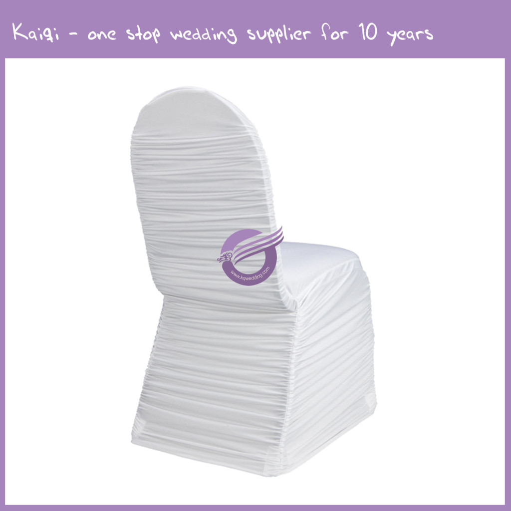 White Roughed Spandex Chair Cover 951