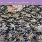 yellow black lace table cloth