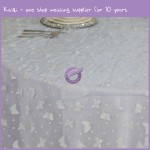 white organza butterfly cheap table cloth