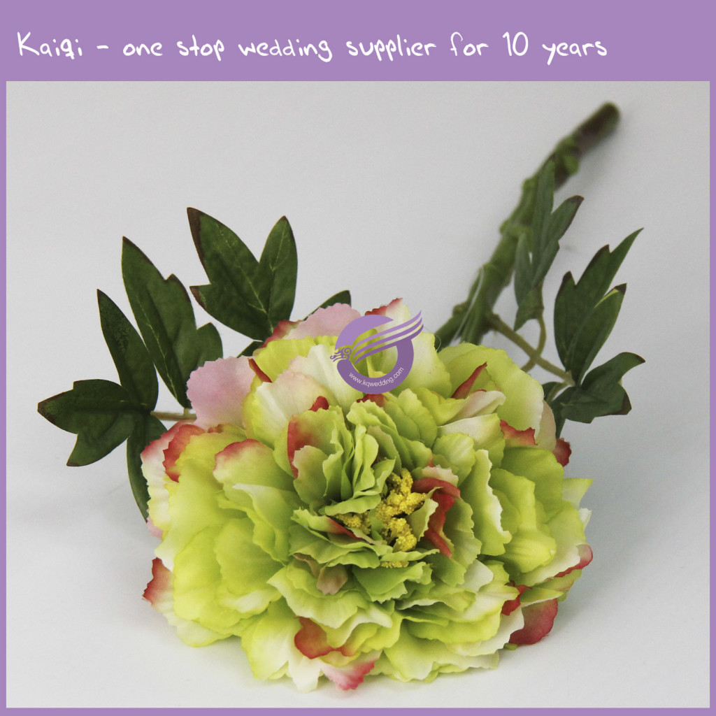 Green Cheap Real Touch Flower Bud Green Peony 18294 Kaiqi Wedding