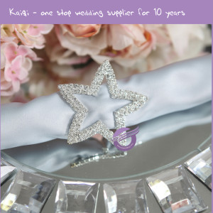 Rhinestone Star Napkin Rings Hotel Wedding Supplies Table Decoration Accessories