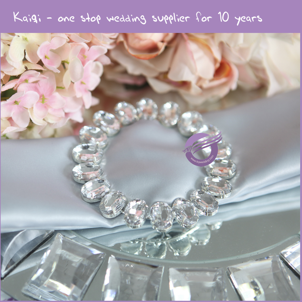 Circle Round Rhinestone Napkin RingsRhinestone Holder For Wedding Wholesale