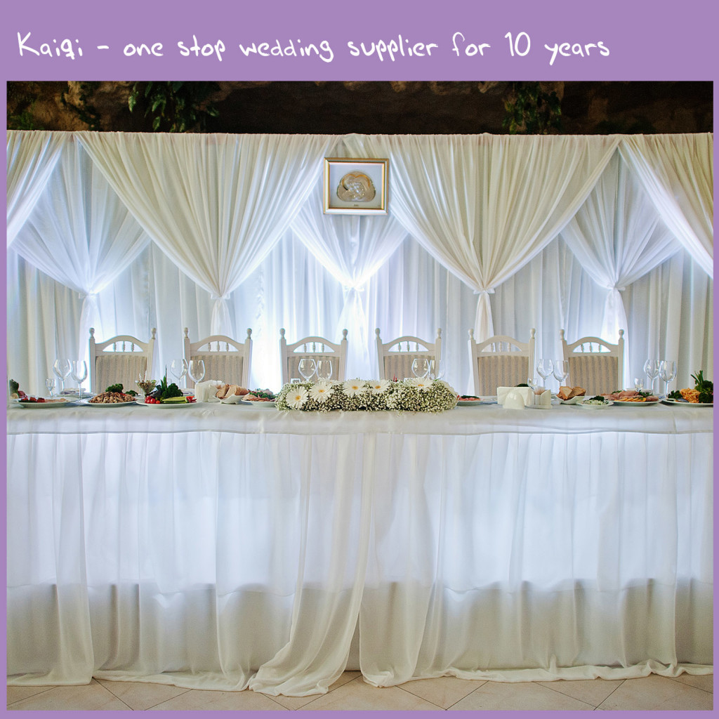 White Cheap Wedding Voile Backdrop Draping Fabric | Kaiqi Wedding